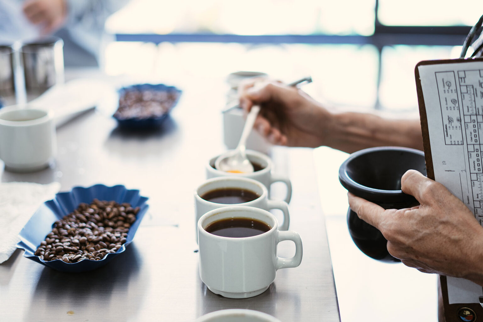 GCC constantly cups its coffee to analyze what is going right (and wrong) on the farms and partner producers' farms.